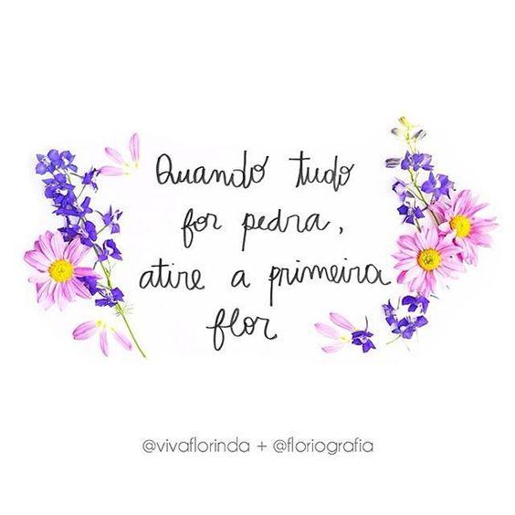 Mais flor, por favor!