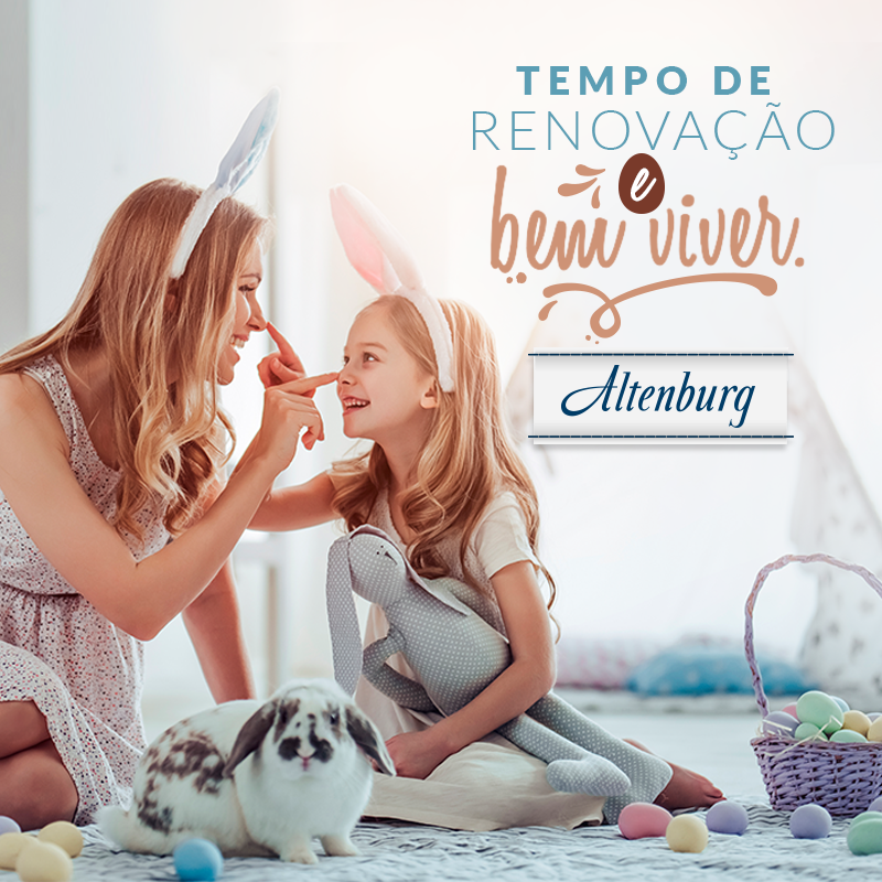 Feliz Páscoa! Feliz renovação!