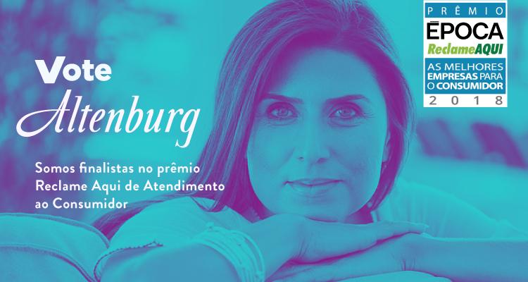 Somos finalistas do Prêmio ÉPOCA Reclame Aqui: vote Altenburg!