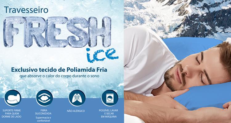 Travesseiro Fresh Ice: para quem sente calor à noite